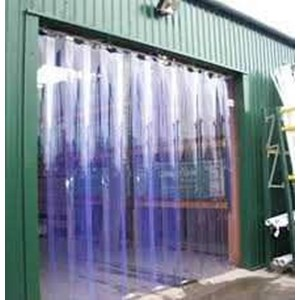 PVC Strip Curtain Blue Bening Murah