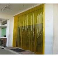 Tirai Plastik Curtain kuning murah karawang timur