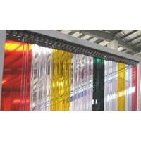 PVC strip Curtain PVC Plastik Kuning  1
