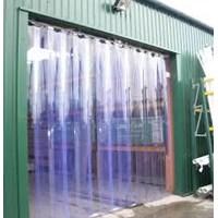 Jual Tirai Plastik Curtain PVC Ribbet Blue Clear Bogor 2