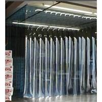 Jual tirai PVC Blue-Clear Tangerang 2