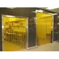 Jual PVC strip Curtain Kuning Cikarang Palembang 2