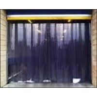 Jual PVC Stip Curtain tirai plastik blue clear murah 2