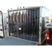 Distributor PVC Stip Curtain tirai plastik blue clear murah 3
