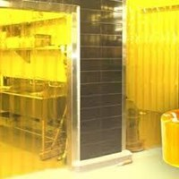 Tirai PVC strip Kuning Bogor dan Bekasi 1