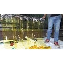 pvc strip curtain tirai plastik bogor yellow