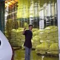Jual tirai PVC tirai kuning bogor Palembang blue clear 2
