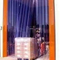 PVC strip Curtain Jember blue clear