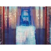 Tirai Plastik PVC curtain blue clear maluku