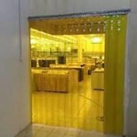 Tirai Plastik Curtain Kuning PVC cilegon timur