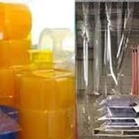 PVC Tirai curtain plastik kudus yellow