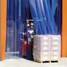PVC strip curtain blue Banjarmasin ( Tirai PVC )
