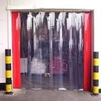 PVC Strip curtain jakarta blue clear