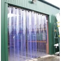 blue clear strip curtain murah (tirai pvc)