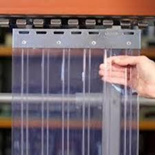 tirai plastik garis orange bekasi (085779441780)