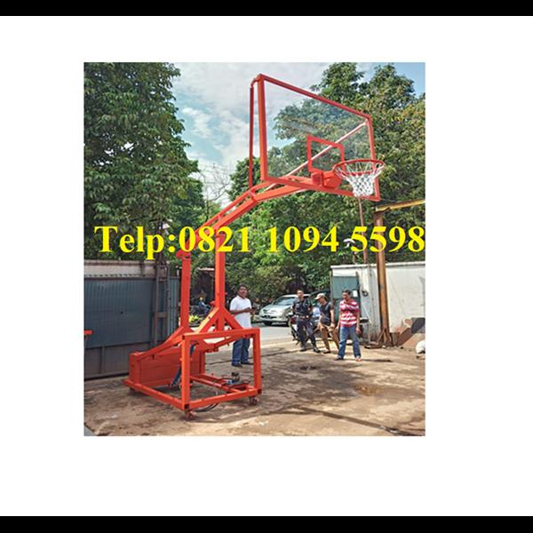 Ring Basket Portable Manual Hidrolik Dapat Dilipat