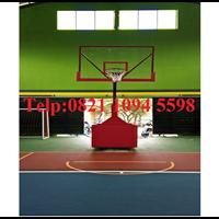 Ring Basket Portable Hidrolik Manual Papan Pantul Akrilik