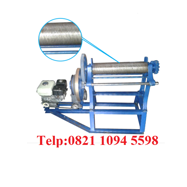Mesin Hand Mangel Press Karet Batik Dengan Motor Penggerak
