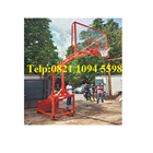 Harga Ring Basket Portable Hidrolik Manual Dapat Dilipat /Naik Turun Dengan Papan Pantul Akrilik Tebal 15 MM 4