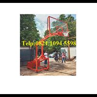 Jual Produsen Ring Basket Portable Hidrolik Otomatis Dapat Dilipat / Naik Turun Secara Otomatis Dengan Papan Akrilik Tebal 15 MM 2