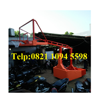 Beli Produsen Ring Basket Portable Hidrolik Otomatis Dapat Dilipat / Naik Turun Secara Otomatis Dengan Papan Akrilik Tebal 15 MM 4