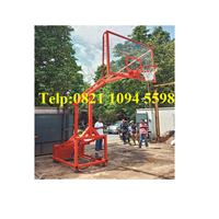 Distributor Produsen Ring Basket Portable Hidrolik Otomatis Dapat Dilipat / Naik Turun Secara Otomatis Dengan Papan Akrilik Tebal 15 MM 3