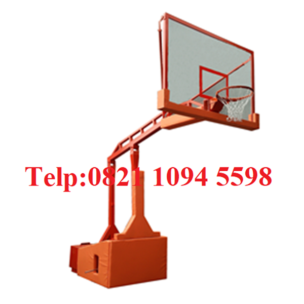 Specifications of Automatic Hydraulic Portable Basketball Hoop Can Be Folded / Up and Down Automatically With Acrylic Board 15 MM Thickness
