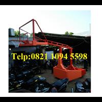 Jual Ring Basket Portable Hidrolik Otomatis Dapat Dilipat / Naik Turun Secara Otomatis Dengan Papan Akrilik Tebal 15 MM
