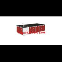 Harga Meja Lab Besi Ruang Tengah dengan Sink Steel Island Bench with Sink