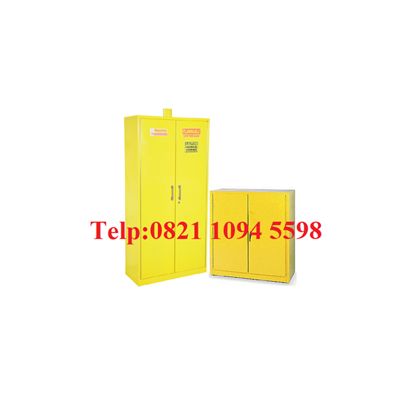 Lemari Laboratorium - Steel Chemical Storage Cabinet 2 Doors (Hazardous Material)