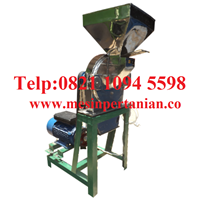 Mesin Penepung Biji Kopi (Disk mill) Stainless Steel Mesin Penghancur - Mesin Penghalus Biji-Bijian Kapasitas Mesin 450 Kg / Jam