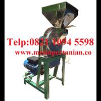 Fabrikasi dan Penjualan Mesin Penepung Daun Teh (Disk mill) Stainless Steel - Mesin Penepung Biji-Bijian Kapasitas Mesin 55 Kg/Jam