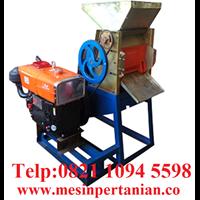 Mesin Pulper Kopi Besi dengan Motor Pengerak Diesel Shark 12-13 HP - Mesin Pertanian