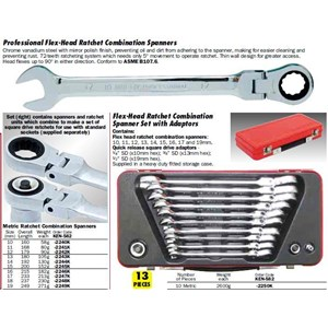 KENNEDY Flex-head Ratchet Combination Spanner