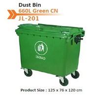 Tempat Sampah Dust Bin 660 L Green