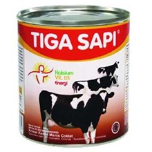 Susu tiga Sapi plain Can