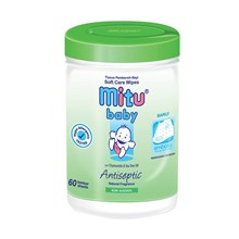 Mitu Baby Wipes Bottle Reguler 60's - Blue/Pink