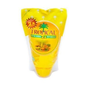 Tropical minyak goreng  1 liter refill  12 Pcs x 1 Liter