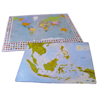 Jual bantex desk pad with maps