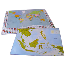 bantex desk pad with maps
