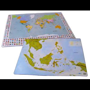 bantex desk pad with maps
