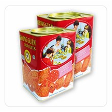 KHONG GUAN Red Assorted 1600 gram x 6 Kaleng