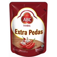 abc sambal or extra pedas pouch 80 gr