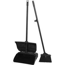 Dust Pan Black + Broom