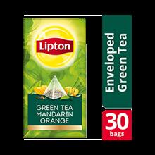 Lipton Pyramid Green Tea Mandarin Orange 30x1.8g