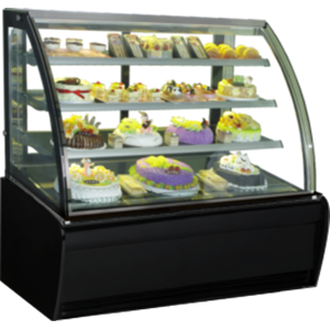 GEA CURVED GLASS CAKE SHOWCAKE DISPLAY COOLER TYPE S-950A