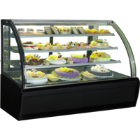 GEA CURVED GLASS CAKE SHOWCAKE DISPLAY COOLER TYPE S-980A 1