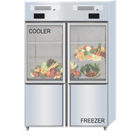 GEA COMBI GLASS DOOR COOLER - FREEZER TYPE Q 1000-L4S 1