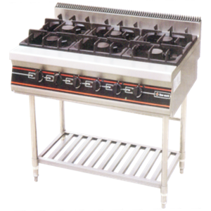 GETRA GAS OPEN BURNER WITH STAND  TYPE RBD-6
