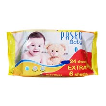 PASEO BABY WIPES GAZETTE 24'S extra